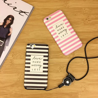Black and pink couple mobile phone case for iPhone7 7S 7 7Splus iphone 6 6s 6plus 6s plus + Nice gift box!
