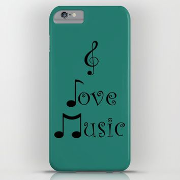 I Love Music - Tribal Teal iPhone & iPod Case by Moonshine Paradise