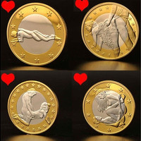 EROTIC Sex Coins Germany Medals/Gold Coins Collection Commemorative Coins (Size: Best gifts, Color: Gold) [9145129414]