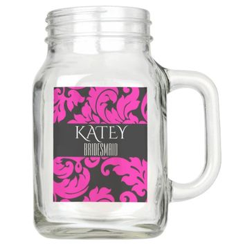 CUSTOMIZED BRIDESMAID 20 OZ MASON JAR