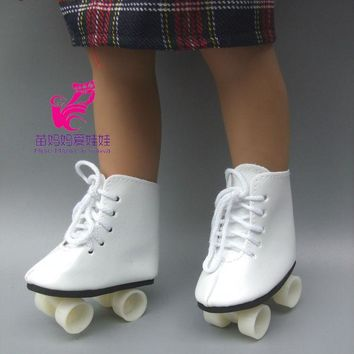 """Snow Boots Shoes for 18"""" 45CM American Girls Dolls, fashion skating sport shoes for Alexander doll accessory baby girl gift"""