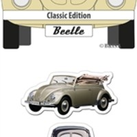 VW Beetle Magnets - Set of 3