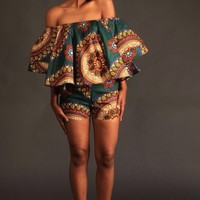 Makanaka off shoulder top and short set