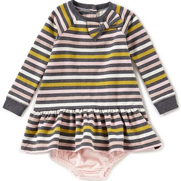 kate spade new york Baby Girls 12-24 Months Striped Bow Applique Dress | Dillards