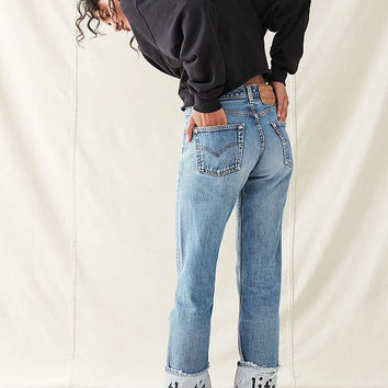 Urban Renewal Recycled Printed Cuff Levi's Jean | Urban Outfitters