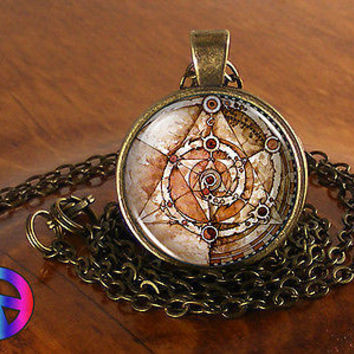 The Dark Crystal Mystics Necklace Pendant Jewelry Charm Fantasy Art Gift Present