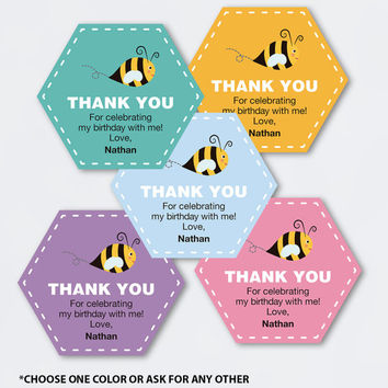Bee Birthday Favor Tags Printable Pdf From Rocknprint On Etsy