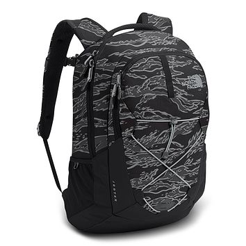 Jester Backpack in Black Camo Print & High Rise Grey by The North Face