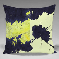 A Map of Ice and  Fire Game of Thrones  - Square and Regtagular Pillow Case One Side/Two Side.