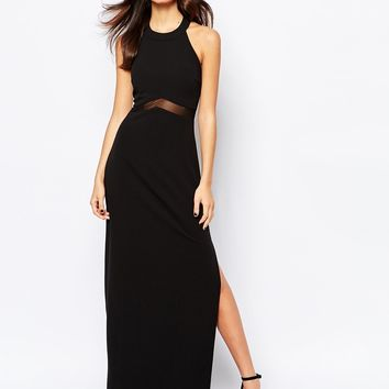 New Look Mesh Insert Maxi Dress
