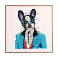 Coco de Paris Clever Bulldog Framed Wall Art