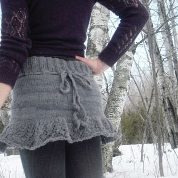Organic Mini Skirt Hand Knitted Natural Hand Dyed Yarn Eco-Friendly Ready To Ship