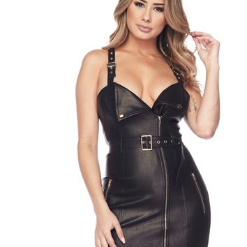 Call me leather dress