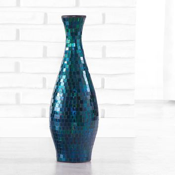 Turquoise Mosaic Decorative Vase, Small