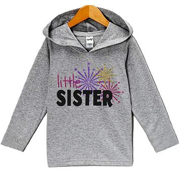 Custom Party Shop Baby Girl's Little Sister New Years Eve Hoodie Pullover
