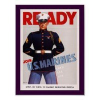 Ready ~ Join US Marines Poster
