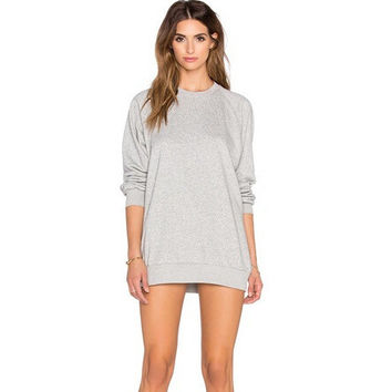 Winter Simple Design Sleeves Hoodies Plus Size Bottoming Shirt [4962085636]