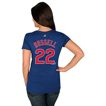 Addison Russell Chicago Cubs #22 MLB Women's Player T-Shirt (Xlarge)