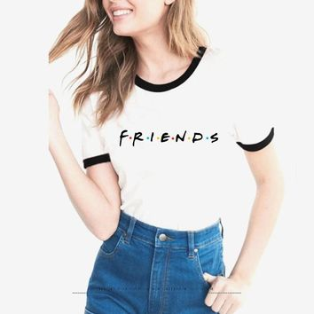 Friends TV T-shirt Women Hipster Shirts female Tumblr Graphic T shirt Best Frieds Forever harajuku tees bff Friend Gift tops