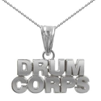 Drum Corps Necklace | Sterling Silver Gift