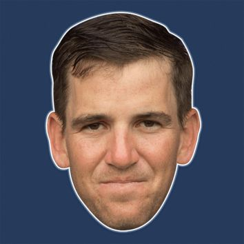 Angry Eli Manning Mask - Perfect for Halloween, Costume Party Mask, Masquerades, Parties, Festivals, Concerts - Jumbo Size Waterproof Laminated Mask