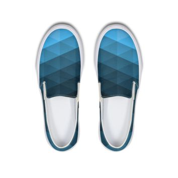 FYC Ice Blue Coast Canvas Slip-ons Shoe (men's and women's sizing)