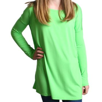 Green Flash Piko Kids Long Sleeve Top