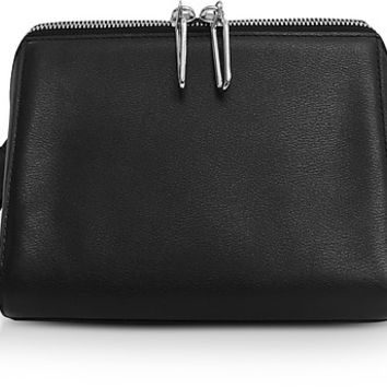 3.1 Phillip Lim Black Leather Ray Triangle Crossbody Bag