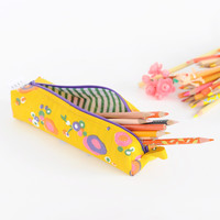 Pencil Bag | Mod Yellow Floral