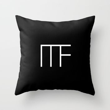 #1 Minimalist Forms Throw Pillow by Minimalist Forms