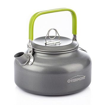 Aluminum 0.8L Outdoor Camping Hiking Kettle Coffee Pot Portable Teapot Kettle, Compact and Lightweight with Silicon Handle