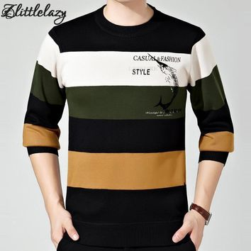 2017 brand social cotton thick men's pullover sweaters casual striped crocheted knitted sweater men masculino jersey clothes 875