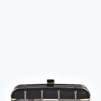 Tina Metal Check Box Clutch