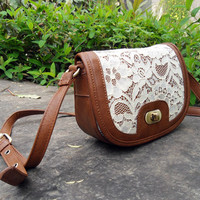 Sweet Lace Satchel For Summer