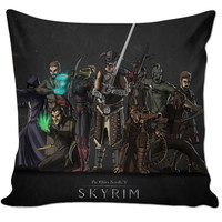 Elder Scrolls Skyrim Classes Pillow