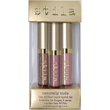 Stila Naturally Nude Stay All Day Liquid Lipstick Set