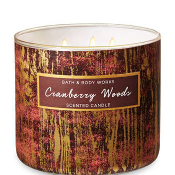 CRANBERRY WOODS3-Wick Candle