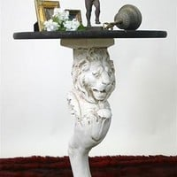 Lion Leg Renaissance Home Decor Stand or Console Base 29H