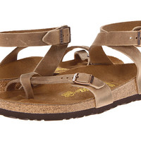 Birkenstock Yara Oiled Leather Tobacco Oiled Leather - Zappos.com Free Shipping BOTH Ways