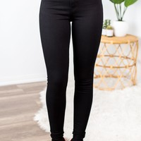 Kan Can High Rise Black Skinny Jeans