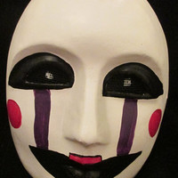 FNAF mask. Five Nights at Freddy's mask. FNAF Marionette mask. Freddy's puppet mask