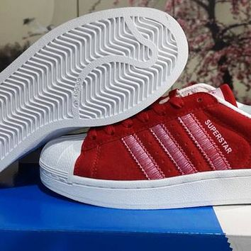 new arrival 073c0 edb82 BNWB   Genuine Adidas Originals Superstar RT Triple Red Suede Trainers All  Sizes