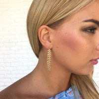 Divine Goddess Gold Hang Earrings