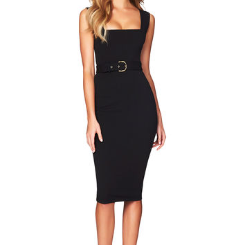 Black Mariana Midi : Buy Designer Dresses Online at Nookie