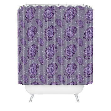 Caroline Okun Shanti Blooms Shower Curtain