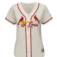 St Louis Cardinals Womens Majestic Replica Cool Base Replica Jersey - Ivory - 17253270