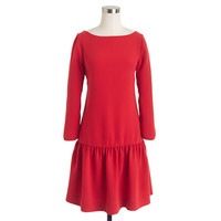 J.Crew Womens Crepe Drop-Waist Dress