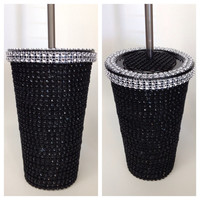 Black blinged tumbler