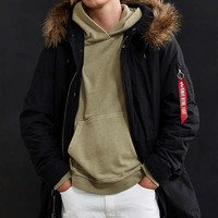 Alpha Industries J-4 Fishtail Fur Parka Jacket - Urban Outfitters
