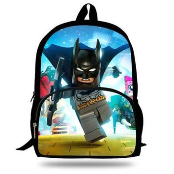 Boys bookbag trendy 16inch Cool Batman Backpack For School Girls  Gift Kids and Teengers Travel Bag Boys Justice League Mochila AT_51_3